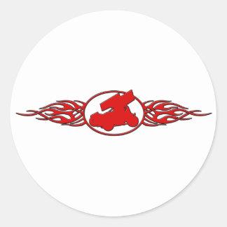 Flames5 Classic Round Sticker