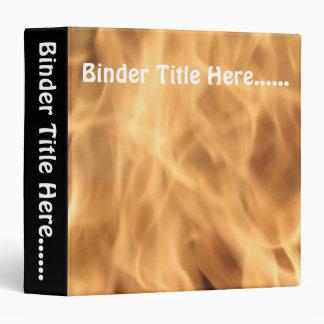 """Flames 1.5"""" 3 ring binders"""