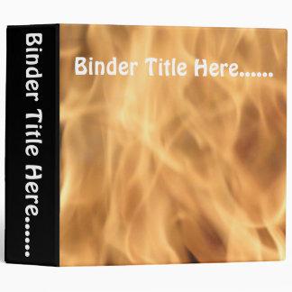 """Flames 2"""" vinyl binders"""