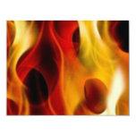 Flames 4.25x5.5 Paper Invitation Card