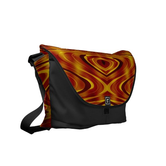 Flames Abstract Courier Bag