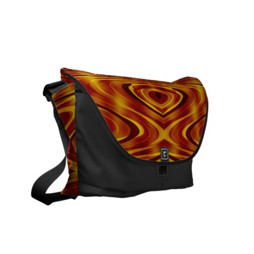 Flames Abstract Messenger Bags