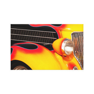 Flames and Chrome Canvas Print