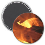Flames and FIre 3 Inch Round Magnet