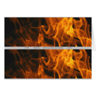 Flames and FIre Card