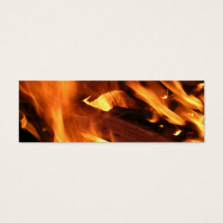 Flames and FIre Mini Business Card