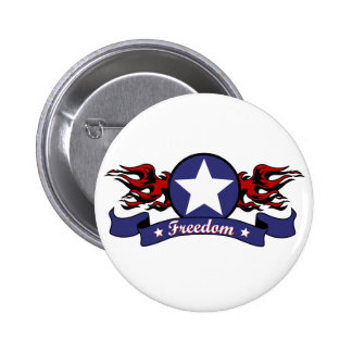 Flames and Freedom Button