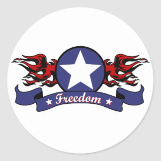 Flames and Freedom Stickers