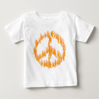 Flames and Hearts Peace Sign Baby T-Shirt