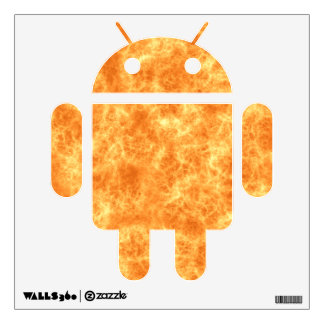Flames Android Decal