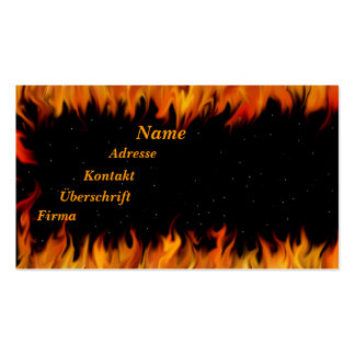 Flames at the starlit sky Double-Sided standard business cards (Pack of 100)