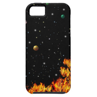 Flames at the starlit sky iPhone 5 fundas