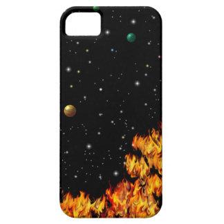 Flames at the starlit sky iPhone 5 funda