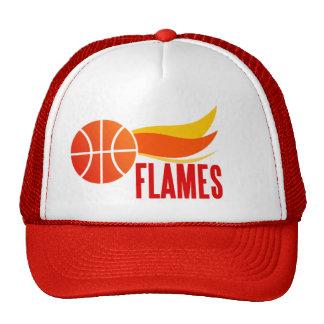 Flames Basketball Cap Trucker Hat