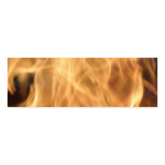Flames Bookmark Business Card Template
