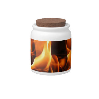 flames candy jars