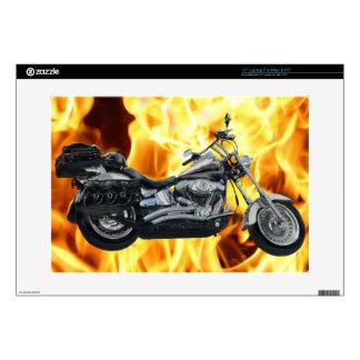 "Flames & Cool Motorbike Power Machine Rider Gear 15"" Laptop Skin"