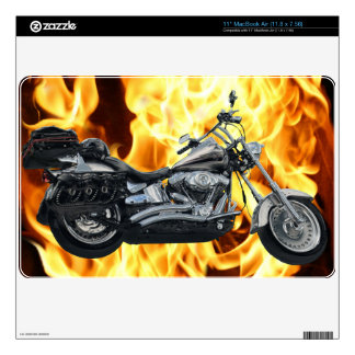 Flames & Cool Motorbike Power Machine Rider Gear MacBook Air Skins