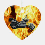 Flames & Cool Motorbike Power Machine Rider Gear Christmas Ornament