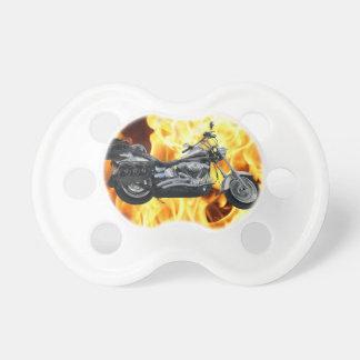 Flames & Cool Motorbike Power Machine Rider Gear Pacifier