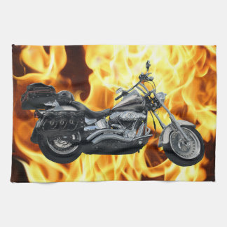 Flames & Cool Motorbike Power Machine Rider Gear Towel