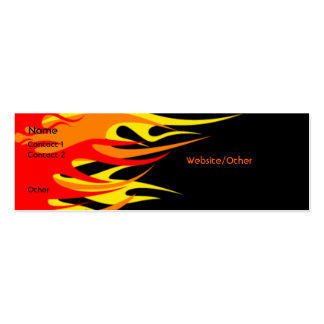 Flames Double-Sided Mini Business Cards (Pack Of 20)