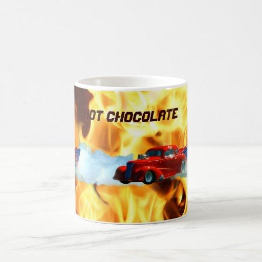 Flames & Drag-racing Doorslammer Race Car Kids Mug