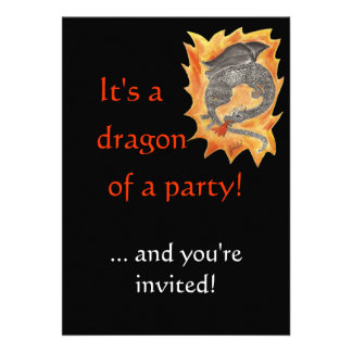 Flames dragon custom announcements