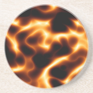 Flames Drink Coaster