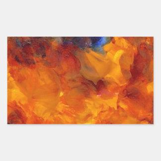 Flames Fire Designer Dramatic Flames Design Rectangular Sticker