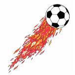 flames fire soccer ball photo sculptures