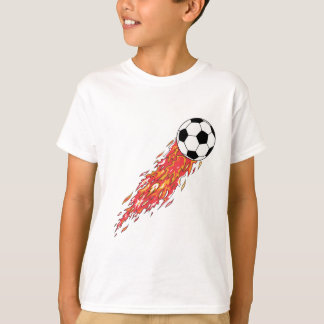 flames fire soccer ball T-Shirt