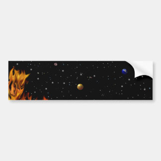 Flames - fires at the starlit sky bumper sticker