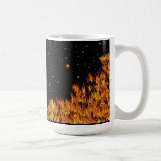 Flames - fires at the starlit sky coffee mug
