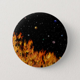 Flames - fires at the starlit sky pinback button