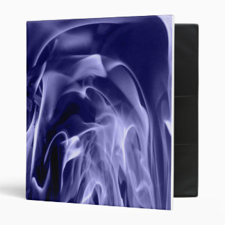 Flames galore blue vinyl binder