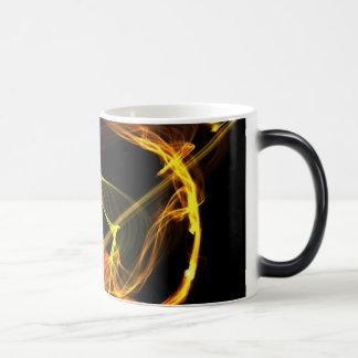 Flames graphic design 11 oz magic heat Color-Changing coffee mug