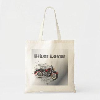 Flames Heart Rock N Roll Biker WeddingFavor Budget Tote Bag