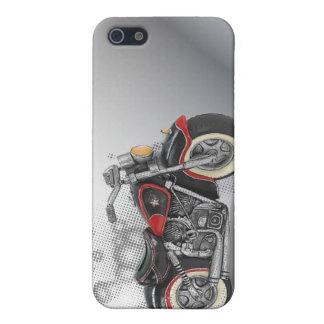 Flames Heart Rock N Roll Biker WeddingFavor Case For iPhone SE/5/5s