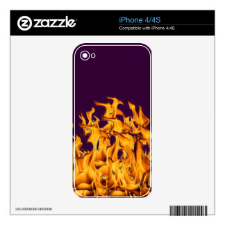 flames iPhone 4 decal