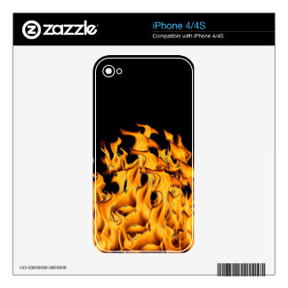 flames iPhone 4 skins
