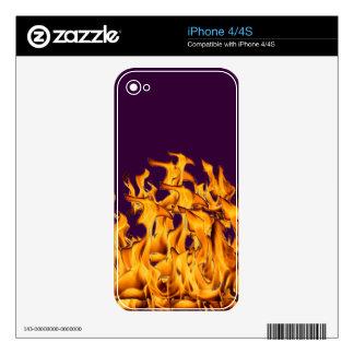 flames iPhone 4S skin