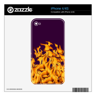flames iPhone 4S skins