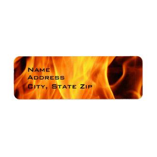 Flames Return Address Label
