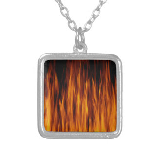 flames personalised necklace