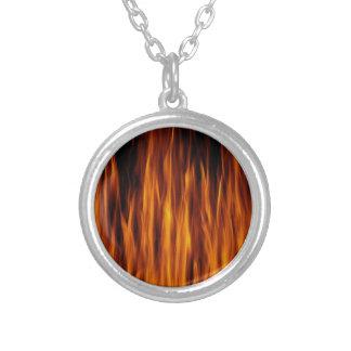 flames necklace