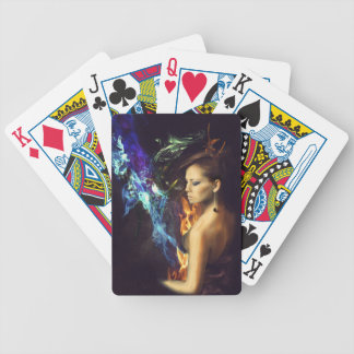 Flames of Fashion Bicycle Poker Cards