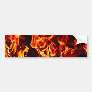 Flames of Fire Bumper Sticker