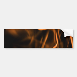 Flames of Fire in a Fireplace Bumper Sticker