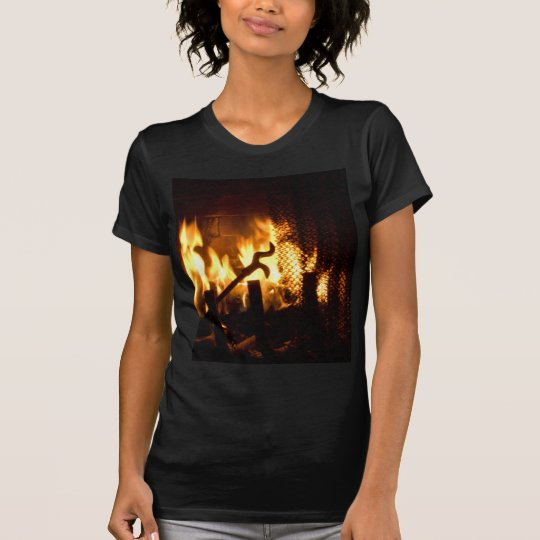 Flames of Fire in a Fireplace T-Shirt